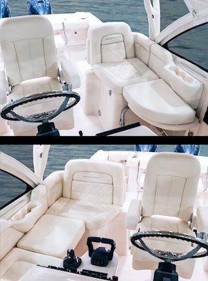 Grady-White Boats Express 330 33-foot Express Cabin Boat helm companion seats