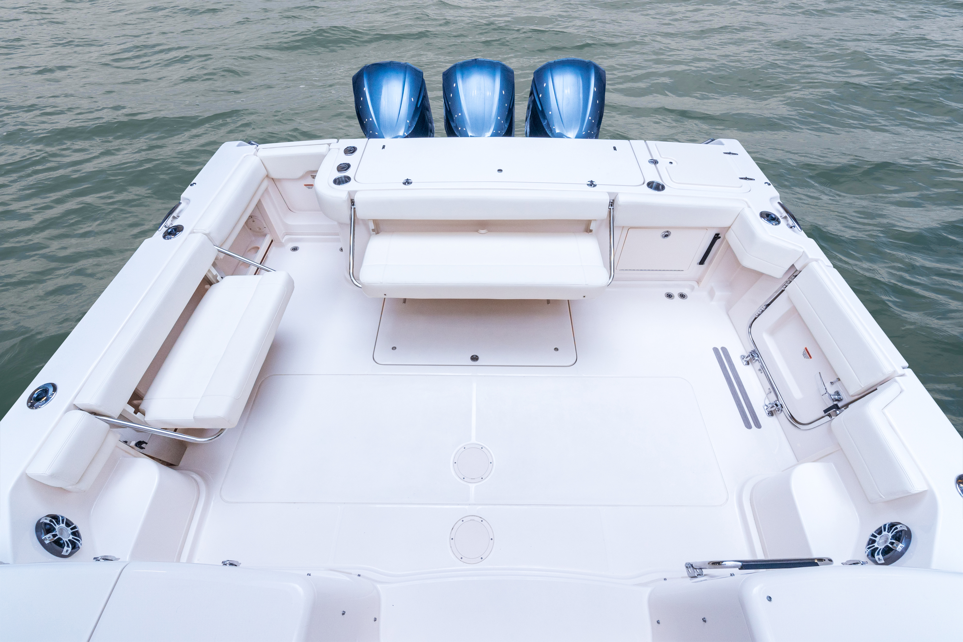 Grady-White Express 370, 37-foot express cabin boat with companion bench seat