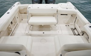 Grady-White Freedom 285 28-foot dual console boat overall cockpit with seating