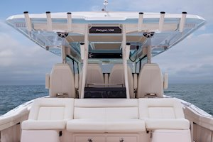 Grady-White Canyon 456 45-foot center console fishing boat t-top with color