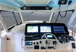Grady-White Canyon 456 45-foot center console fishing boat sea command center helm
