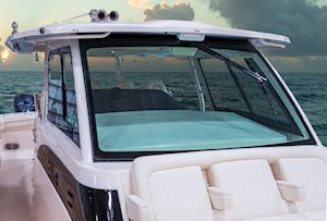 Grady-White Canyon 456 45-foot center console fishing boat windshield