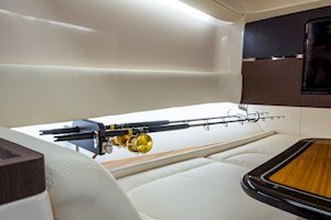 Grady-White Canyon 456 45-foot center console fishing boat integrated rod storage slides