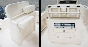 Grady-White Fisherman 216 21-foot center console lean bar