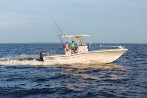 Grady-White 251 CE 25-foot Coastal Explorer fishing boat running