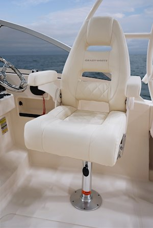 Grady-White Freedom 235 23-foot dual console deluxe seating helm chair