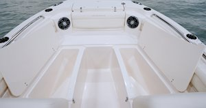 Grady-White Freedom 215 21-foot dual console insulated boxes