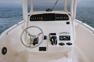 Grady-White Fisherman 216 21-foot center console helm overall